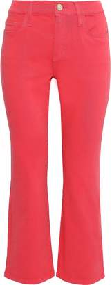 Current/Elliott The Kick Cropped High-rise Flared Jeans
