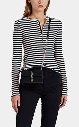 Rag & Bone Women's Halifax Striped Rib-Knit Cotton Henley