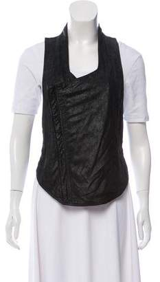 Helmut Lang Leather Cropped Vest