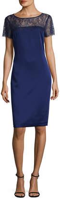 St. John Luxe Satin Crepe Dress