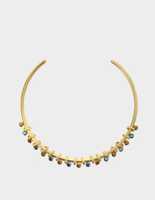 Aris Geldis Blue and dorado chocker