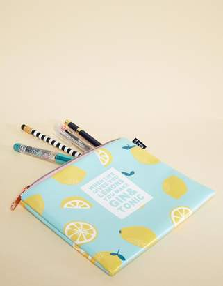 Cotton On Gin & Tonic Lemons Pencil Case
