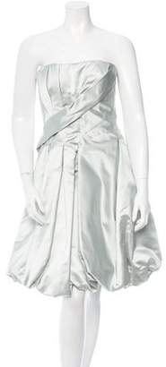Oscar de la Renta Strapless Silk Dress w/ Tags