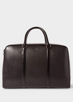 Paul Smith Men's Black 'New City' Leather Holdall