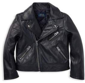 Ralph Lauren Little Girl's& Girl's Leather Moto Jacket