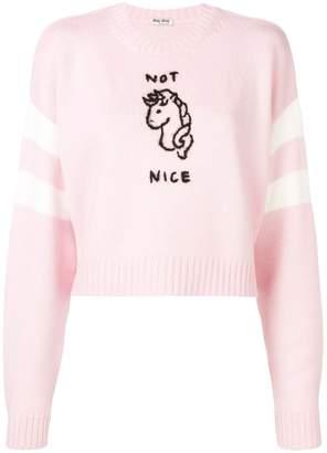 Miu Miu Not Nice jumper