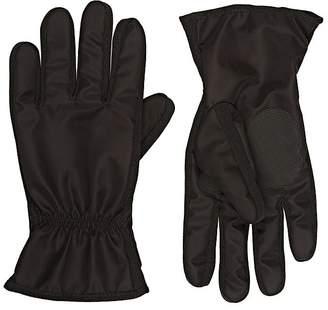 Barneys New York Men's Fleece-Lined Nylon Sport Gloves