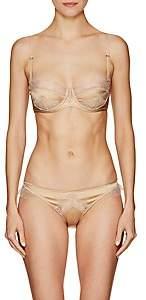 Kiki de Montparnasse Women's Sensual Lace-Trimmed Balconette Bra - Gold