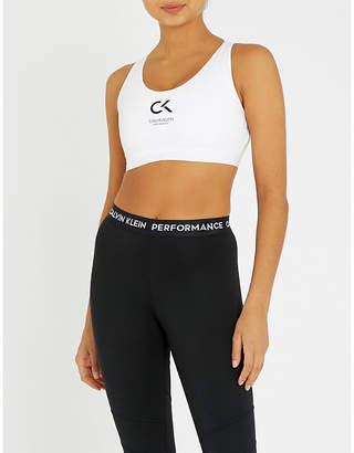 Calvin Klein High-impact stretch-jersey sports bra
