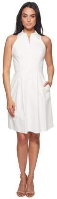 Adrianna Papell Button Up Halter Dress Women's Dress