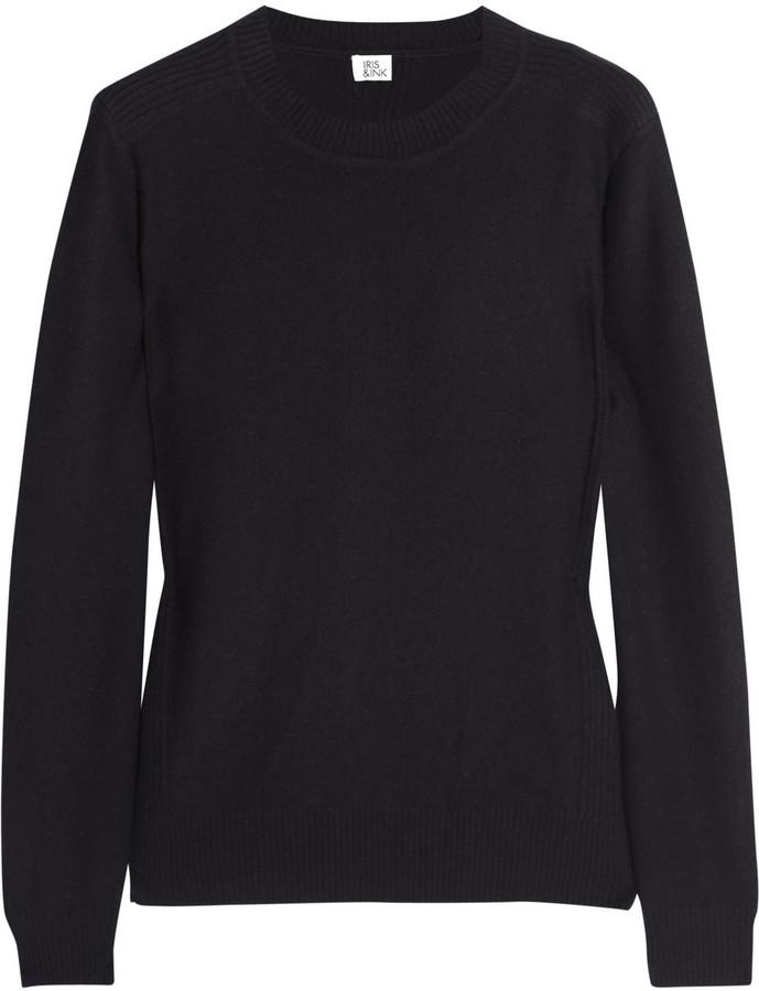 Iris & Ink Rib-detailed cashmere sweater
