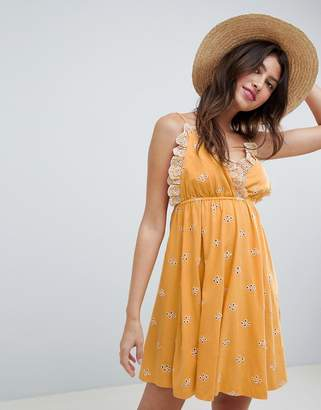 Asos DESIGN Mini Broderie Sundress