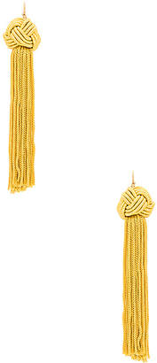 Vanessa Mooney Astrid Knotted Tassel Earrings in Yellow. $40 thestylecure.com