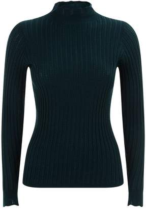 Sandro High Neck Knit Top