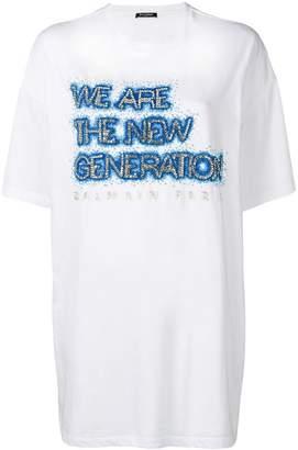 Balmain embellished oversized T-shirt