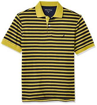0dee2989ce1 Nautica Men's Classic Fit 100% Cotton Soft Short Sleeve Stripe Polo Shirt