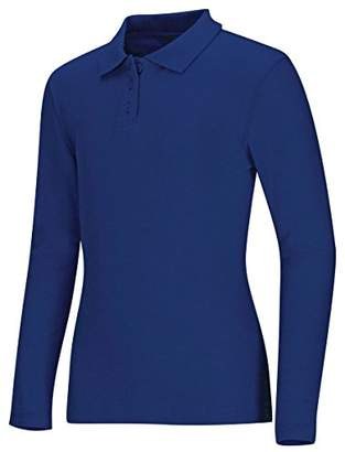 Classroom Uniforms Junior's Long Sleeve Fitted Interlock Polo