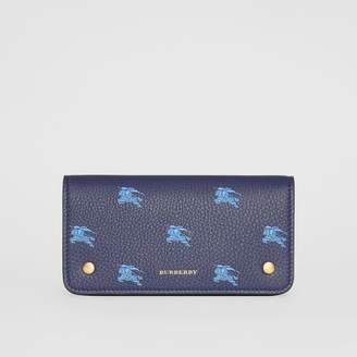 Burberry EKD Leather Phone Wallet, Blue