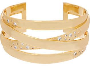 Melinda Maria Criss Cross Cuff Bracelet- Jennifer