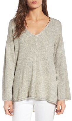 Women's Guest Editor Deep V-Neck Hooded Pullover $58 thestylecure.com