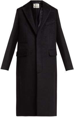 Acne Studios Single-breasted mohair-blend coat