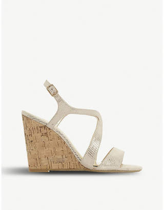 Dune Mojoe wedge heel sandals