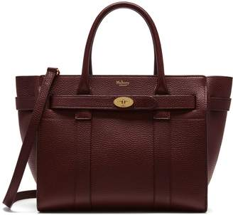 Mulberry Small Zipped Bayswater Oxblood Natural Grain Leather