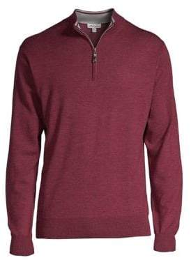 Peter Millar Wool Quarter Zip Pullover
