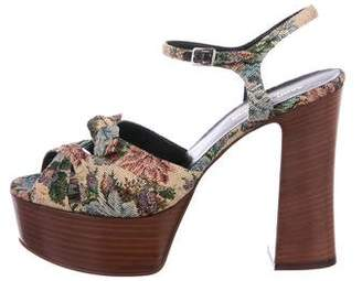 Saint Laurent Floral Print Candy 80 Bow Sandals