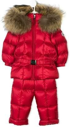 Moncler padded jumpsuit and appliqué coat