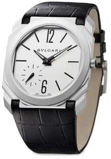 Bvlgari Octo Leather Strap Watch