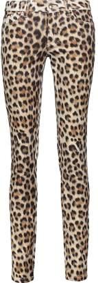 Just Cavalli Leopard-print Stretch Cotton-blend Skinny Jeans