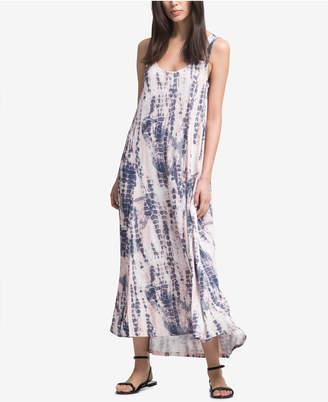 DKNY Printed Sleeveless Maxi Dress
