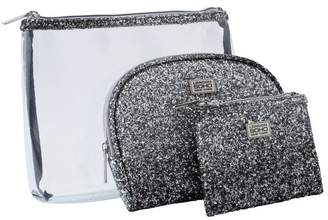 S.O.H.O New York Glitter Ombre Cosmetic Bags - 3 Pack