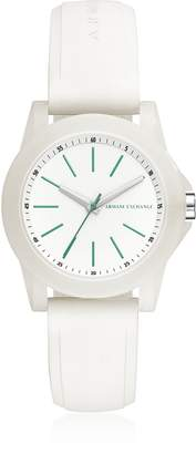 Armani Exchange Lady Banks White Silicone Women's Watch