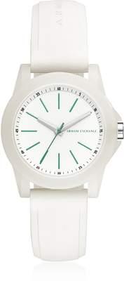 Armani Exchange Lady Banks White Silicone Women's Watch