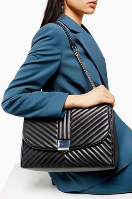 Topshop SOFIA Black Quilted Shoulder Bag