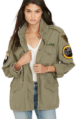 Ralph Lauren Denim & Supply Military Patches Field Jacket $225 thestylecure.com