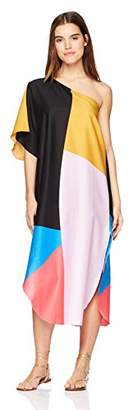 Mara Hoffman Women's Noa One Shoulder Cover Up Dress,X-Small/Small