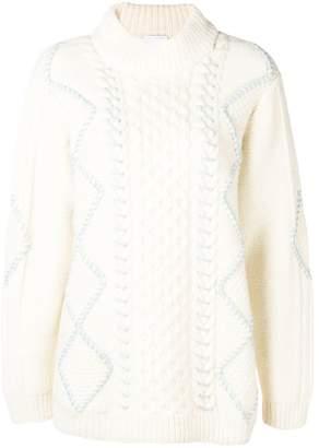 Vilshenko cable knit detail jumper