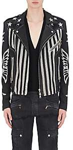 Balmain MEN'S STUDDED LEATHER MOTO JACKET-BLACK SIZE 54 EU
