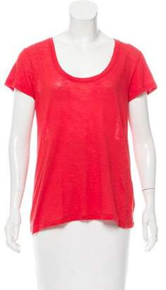 Proenza Schouler Scoop Neck Short Sleeve Top
