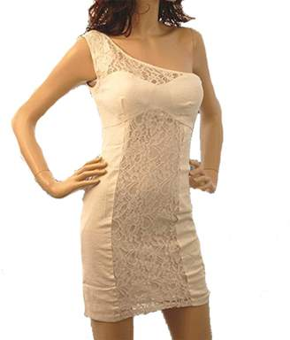 Ark Sexy Lace One Shoulder Cocktail Stretchy Dress