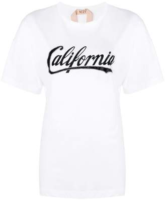 No.21 California print T-shirt