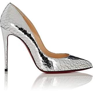 Christian Louboutin Women's Pigalle Follies Specchio Leather Pumps - Silver