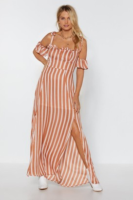 Nasty Gal Sleeve It to Chance Striped Dress