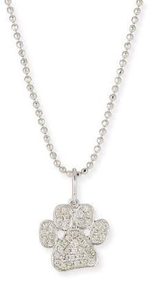 "Sydney Evan 14k White Gold & Diamond Paw Pendant Necklace, 16"""