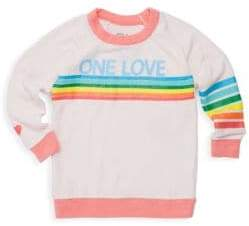 Chaser Little Girl's Rainbow Graphic Pullover