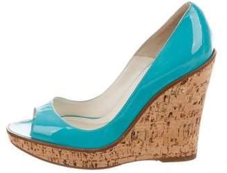 Brian Atwood Peep-Toe Platform Wedges