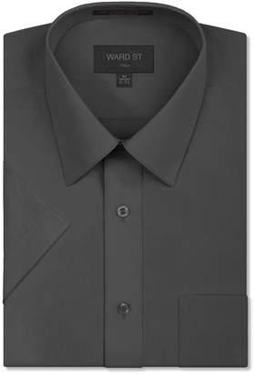 Ward St Men's Regular Fit Short Sleeve Dress Shirts, 5XL, 21-21.5N